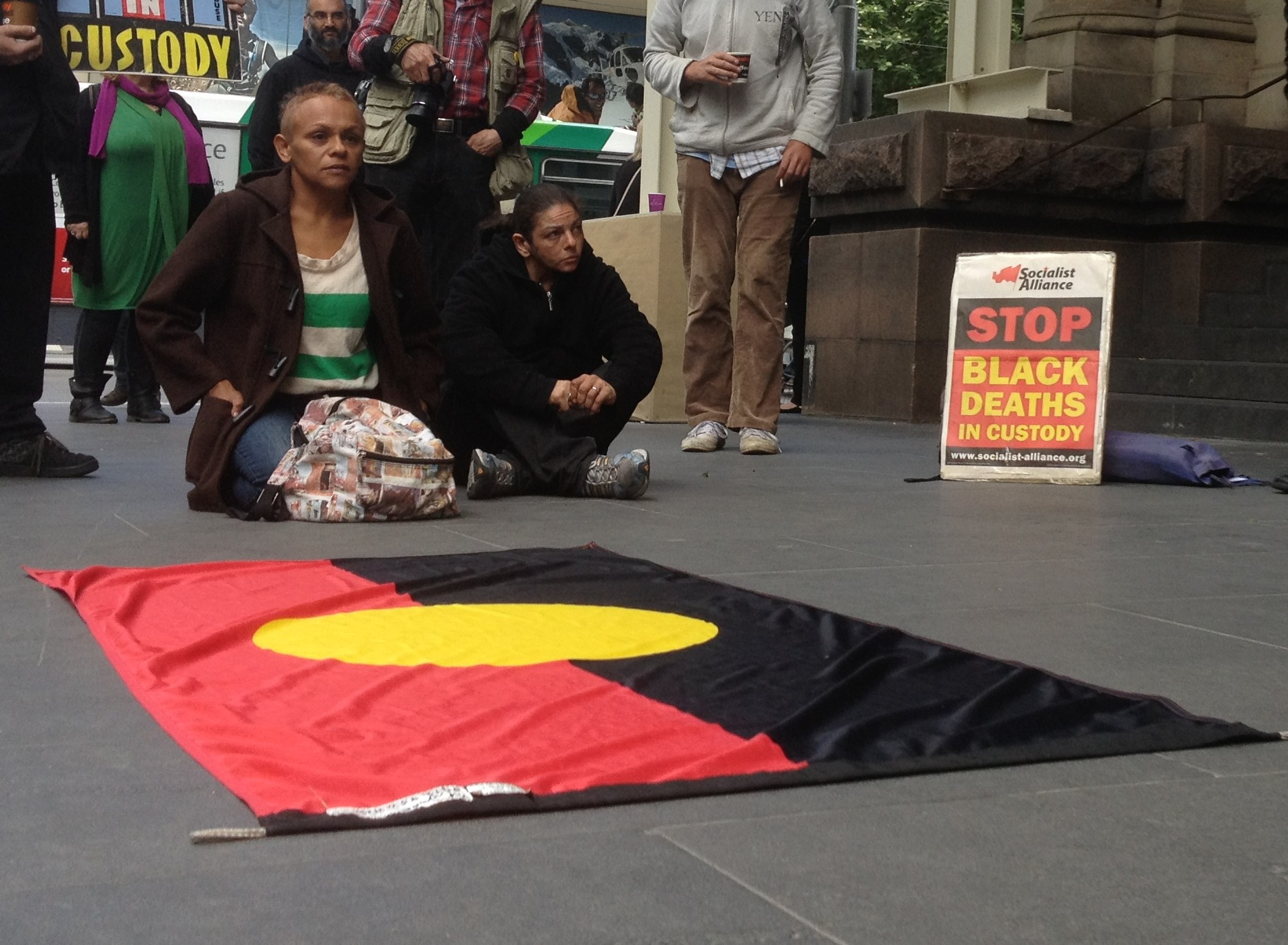 A Deaths in Custody protest in Melbourne