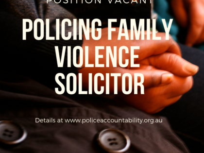 We're hiring: Policing Family Violence Solicitor