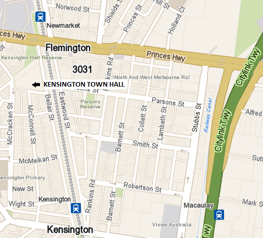 Town hall map