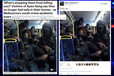 Hey Daily Mail - your Apex Gang pic is actually a UK rap band - image courtesy of ABC Media Watch
