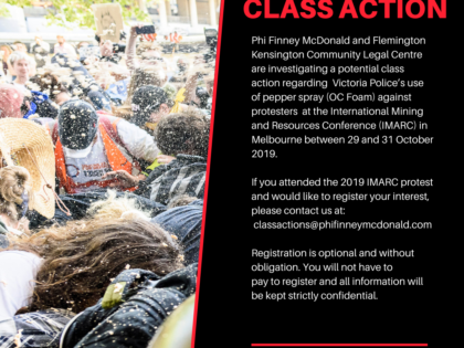 OC FOAM CLASS ACTION – IMARC Protests 2019