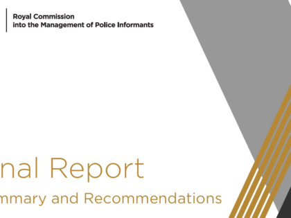 Royal Commission confirms Independent investigations key to police accountability